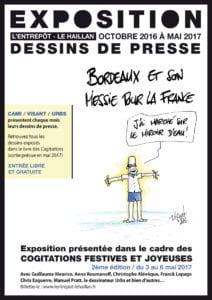 Affiche expo Entrepôt dessin de presse